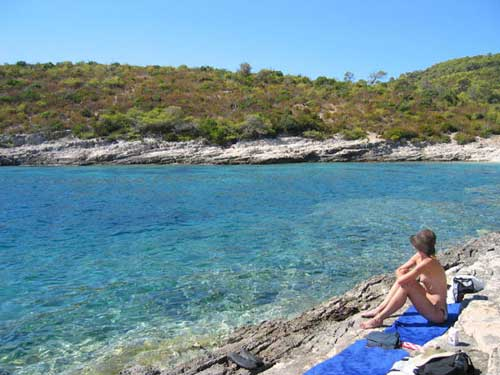 Nudist beach in Croatia